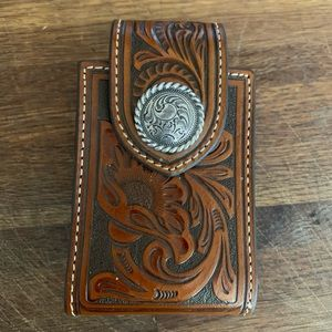 Accessories - Tooled leather cell phone case